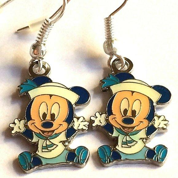Disney Baby Mickey Mouse Earrings Sailor Nautical